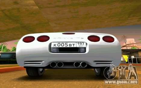 Chevrolet Corvette C5 2003 para la visión correcta GTA San Andreas