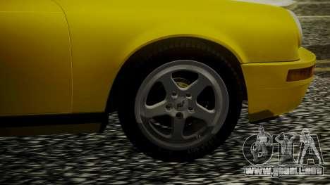 RUF CTR Yellowbird 1987 para GTA San Andreas vista posterior izquierda