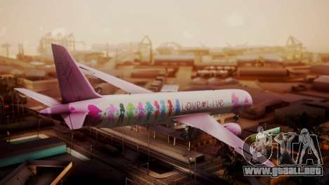 Boeing 787-9 LoveLive Livery para GTA San Andreas left