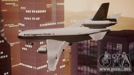 DC-10-30 British Caledonian Charter para GTA San Andreas left