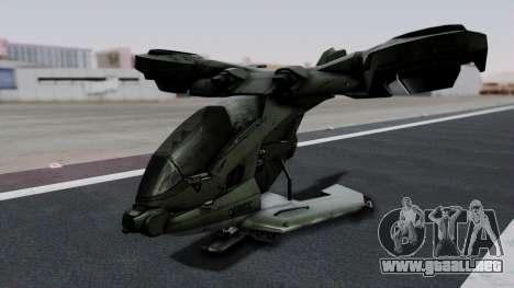Hornet Halo 3 para GTA San Andreas left