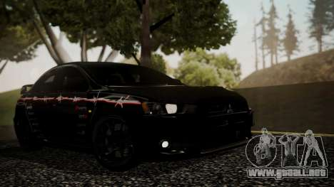 Mitsubishi Lancer Evolution X 2015 Final Edition para GTA San Andreas interior