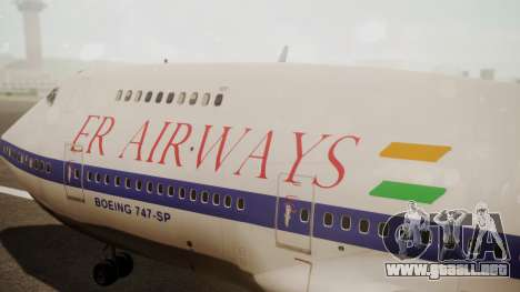 Boeing 747SP ER Airways para la visión correcta GTA San Andreas