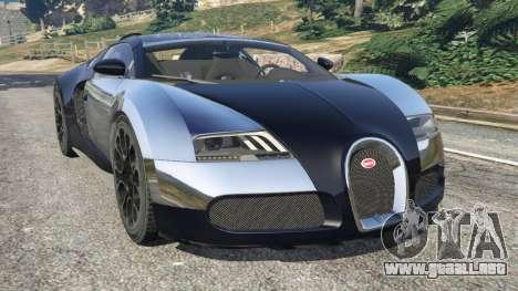 Bugatti Veyron Grand Sport v5.0 para GTA 5