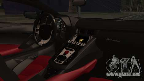 Lamborghini Aventador MV.1 para GTA San Andreas vista posterior izquierda