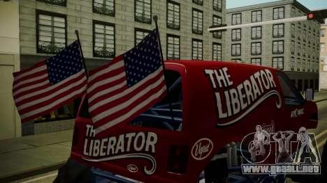 GTA 5 Vapid The Liberator IVF para GTA San Andreas vista hacia atrás