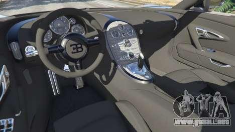 GTA 5 Bugatti Veyron Grand Sport v5.0 vista lateral trasera derecha