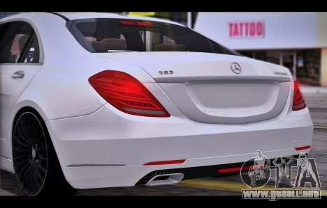 Mercedes Benz S63 W222 Artículos De Calidad para la visión correcta GTA San Andreas