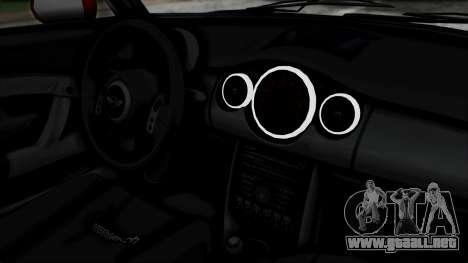 Mini Cooper S Weeny Issi para la visión correcta GTA San Andreas