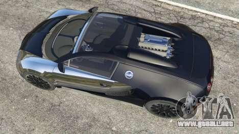 GTA 5 Bugatti Veyron Grand Sport v5.0 vista trasera