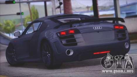Audi R8 GT 2012 Sport Tuning V 1.0 para GTA San Andreas vista posterior izquierda