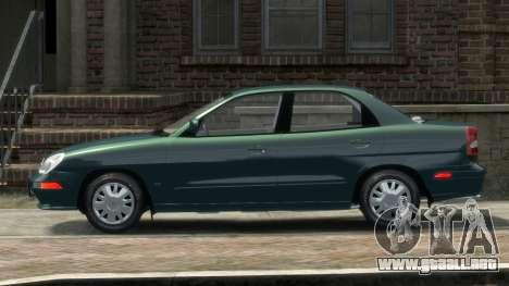 Daewoo Nubira II Sedan SX USA 2000 para GTA 4 left