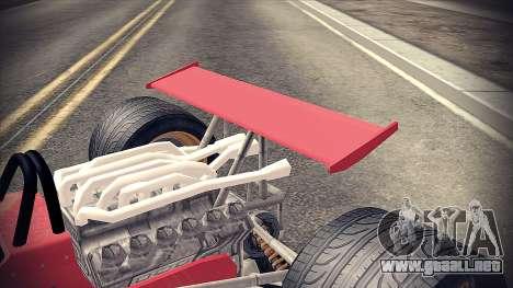 Ferrari 312 F1 para GTA San Andreas vista hacia atrás