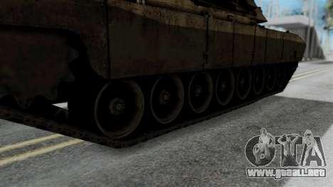 M1A2 Abrams para GTA San Andreas vista posterior izquierda
