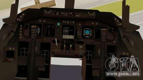 Boeing 747-8I Philippine Airlines para visión interna GTA San Andreas