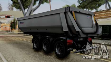 Schmied Bigcargo Solid Trailer Stock para GTA San Andreas left