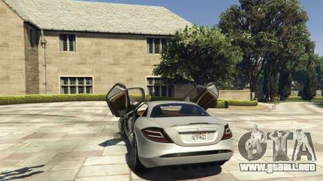 GTA 5 Mercedes-Benz SLR 2005 v2.0 vista lateral derecha