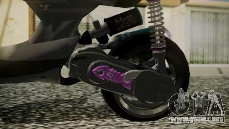 MBK Booster Rocket Tuning para GTA San Andreas vista posterior izquierda