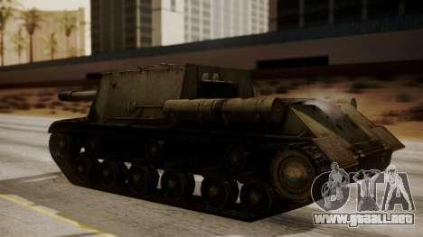 ISU-152 from World of Tanks para GTA San Andreas vista posterior izquierda