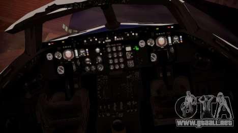 DC-10-30 British Caledonian Charter para GTA San Andreas vista hacia atrás