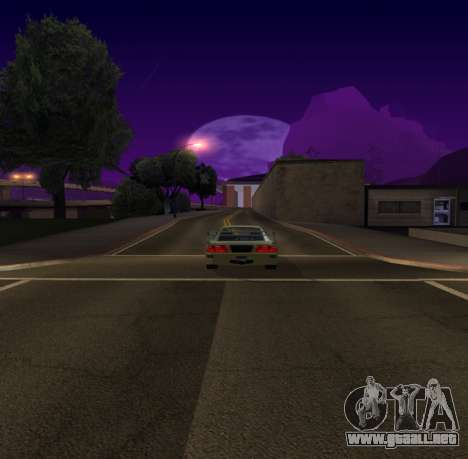 Need for Speed Cam Shake para GTA San Andreas segunda pantalla