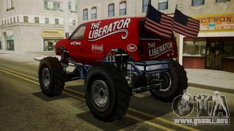 GTA 5 Vapid The Liberator IVF para GTA San Andreas left