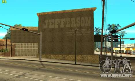 New Jefferson para GTA San Andreas segunda pantalla