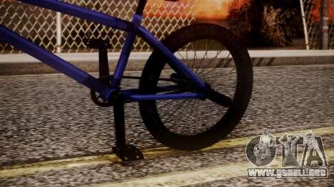 Nueva BMX para la visión correcta GTA San Andreas