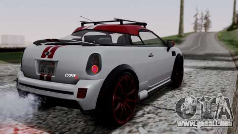 Mini Cooper S Weeny Issi para GTA San Andreas left