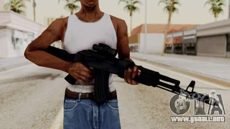 AK-103 with Rifle Dot Aimpoint M2 para GTA San Andreas tercera pantalla