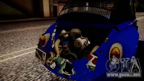Volkswagen Beetle Vocho-Buggy para GTA San Andreas vista hacia atrás