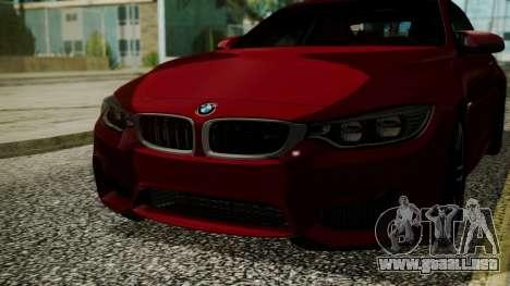 BMW M4 Coupe 2015 Walnut Wood para visión interna GTA San Andreas