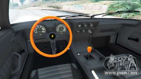 GTA 5 Lamborghini Miura P400 1967 v1.2 vista lateral trasera derecha