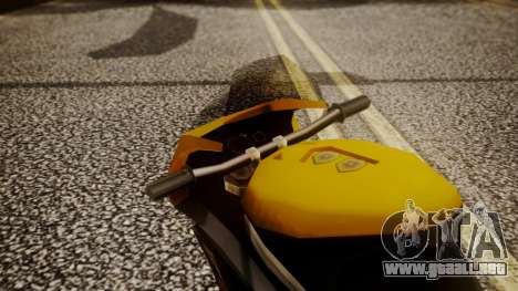 NRG-500 Number 7 Mod para GTA San Andreas vista hacia atrás