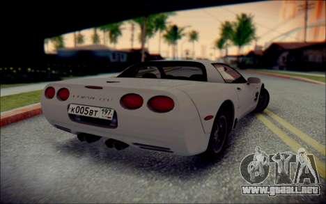 Chevrolet Corvette C5 2003 para visión interna GTA San Andreas