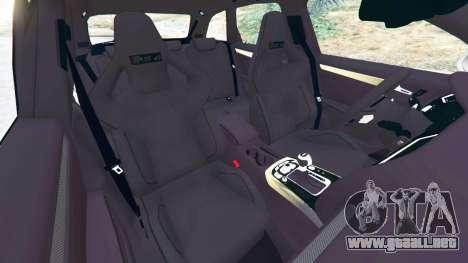 GTA 5 Audi RS4 Avant 2014 vista lateral derecha