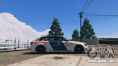 GTA 5 Audi RS4 Avant Hungarian Police vista lateral izquierda