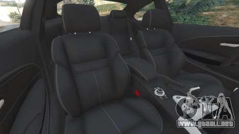 GTA 5 BMW M6 (E63) Tunable v1.0 delantero derecho vista lateral