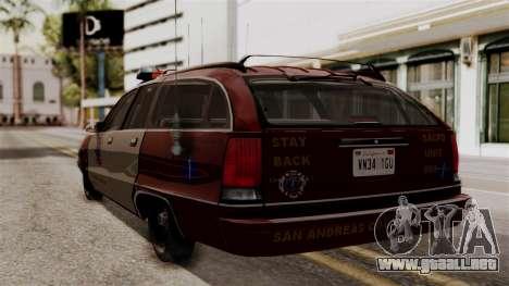 Chevy Caprice Station Wagon 1993- 1996 SAFD para GTA San Andreas left