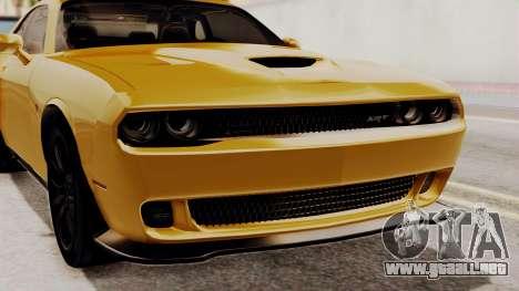 Dodge Challenger SRT Hellcat 2015 IVF PJ para visión interna GTA San Andreas