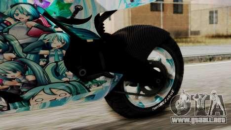 Bati Motorcycle Hatsune Miku Itasha para la visión correcta GTA San Andreas