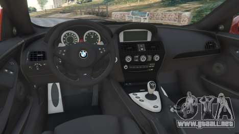 GTA 5 BMW M6 (E63) Tunable v1.0 vista lateral derecha