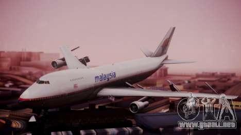 Boeing 747-200 Malaysia Airlines para GTA San Andreas