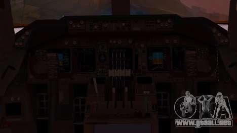 Boeing 747-200 Malaysia Airlines para visión interna GTA San Andreas