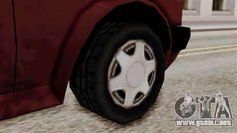 Updated Club Beta v1 para GTA San Andreas vista posterior izquierda