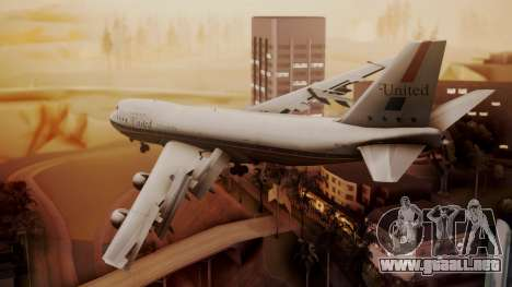 Boeing 747-100 United Airlines Friend Ship para GTA San Andreas left