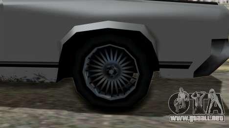 Sabre Turbo from Vice City Stories para la visión correcta GTA San Andreas
