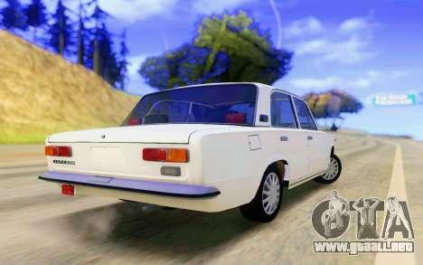 VAZ 2101 Stock para GTA San Andreas vista posterior izquierda