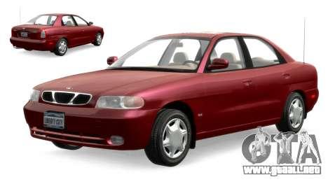Daewoo Nubira I Sedan SX USA 1999 para GTA 4