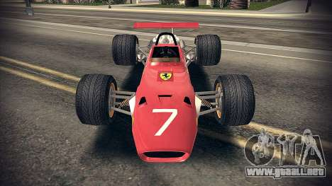 Ferrari 312 F1 para GTA San Andreas left
